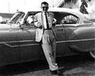 Larry Rodrigues and his 1953 Pontiac in 1955 at Lakehurst NJ