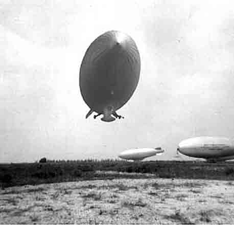 ZPG-2N blimp on approach for landing.