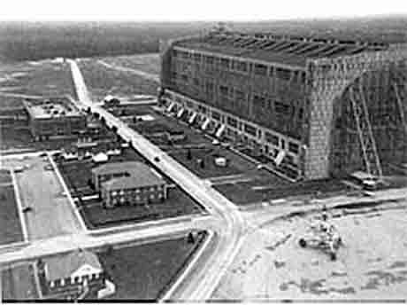 Airship Hangar #1 Lakehurst Naval Air Station (1955).
