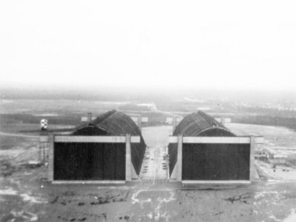 Hangars #5 and #6 Lakehurst Naval Air Station (1955).