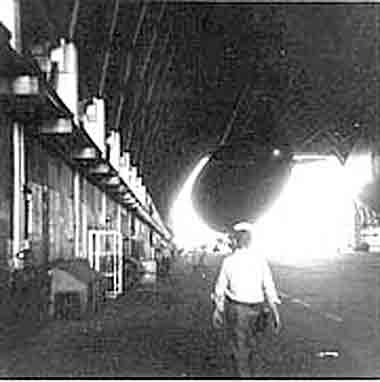 Inside Hangar #5 Lakehurst Naval Air Station (1955).