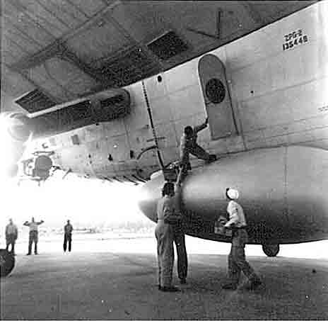 Loading supplies before takeoff in ZPG-2N.